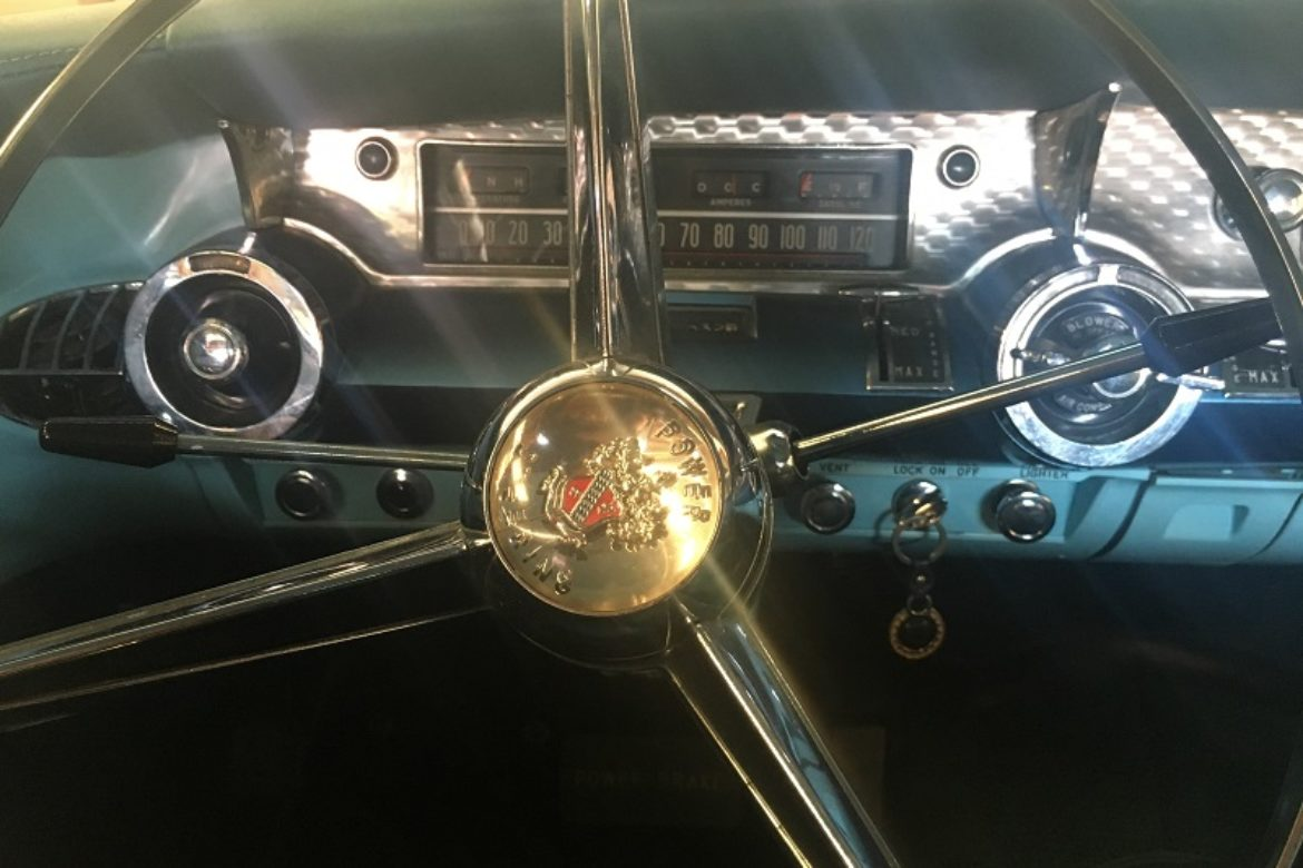 1957 Buick Century steering wheel
